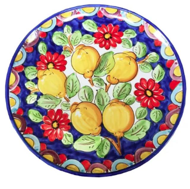 イタリア セラミック 手描き手焼き レモン