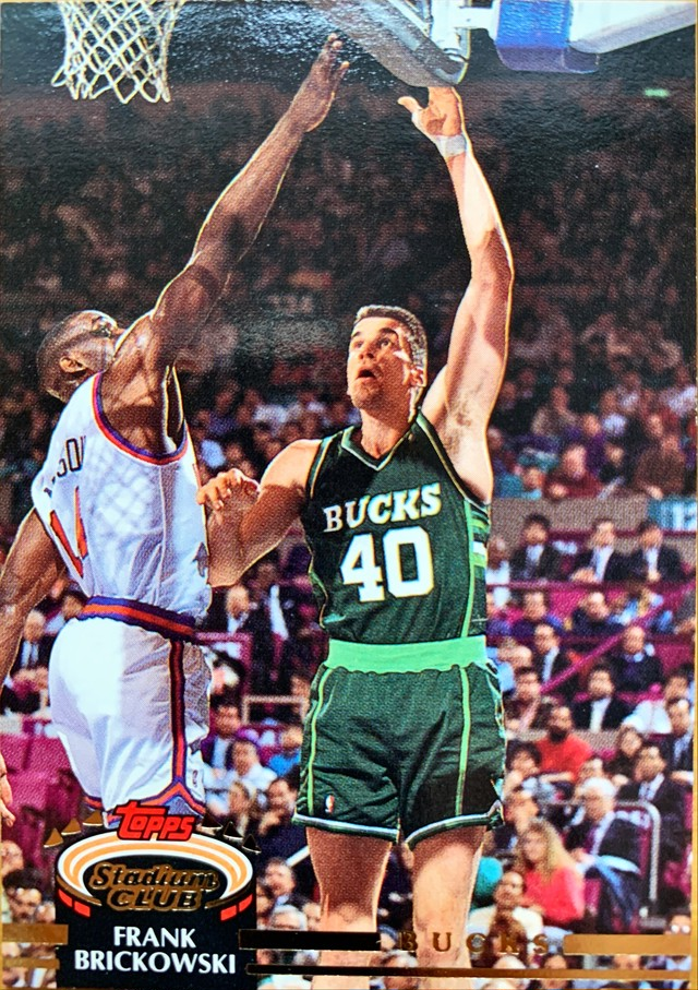 NBAカード 92-93TOPPS Frank Brickowski #136 BUCKS