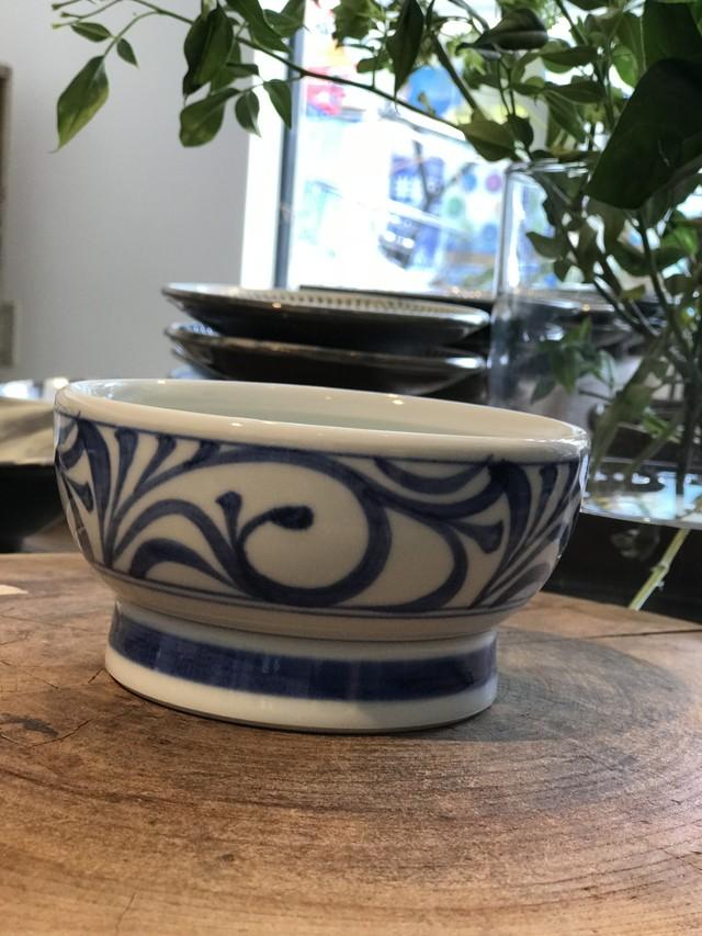 砥部焼 ペット専用くらわんか茶碗小 赤太陽 フード入れ