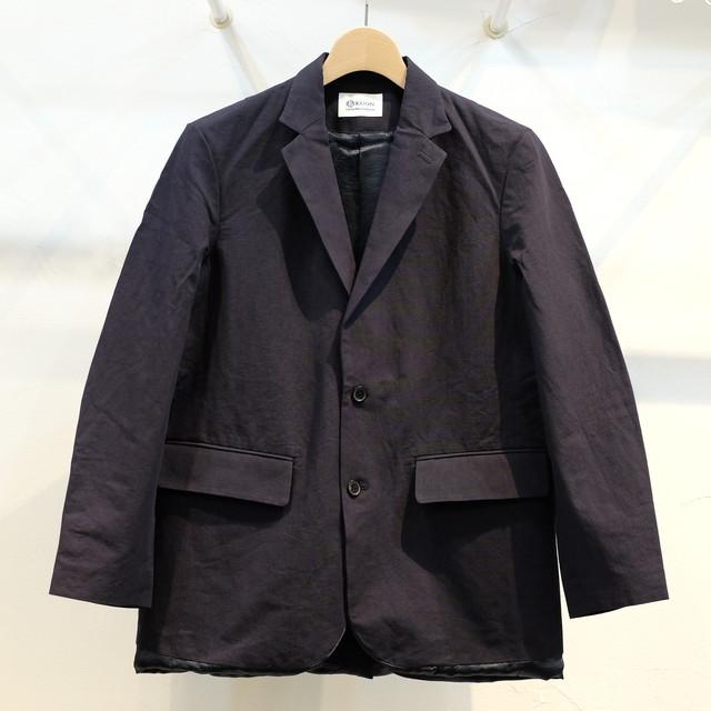 KUON(クオン) 綿和紙アセテート 二つボタンジャケット ネイビー