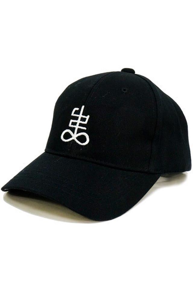 「弔」cap (Black)