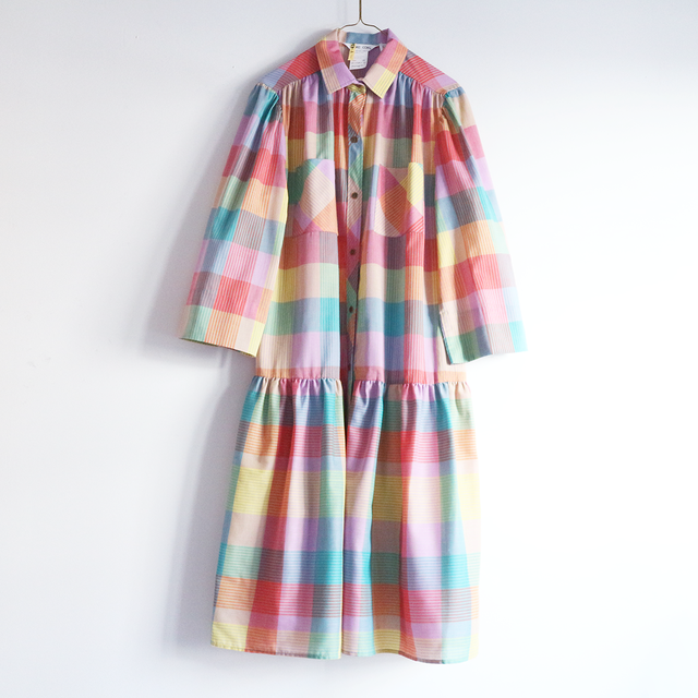 colorful check spring_OP