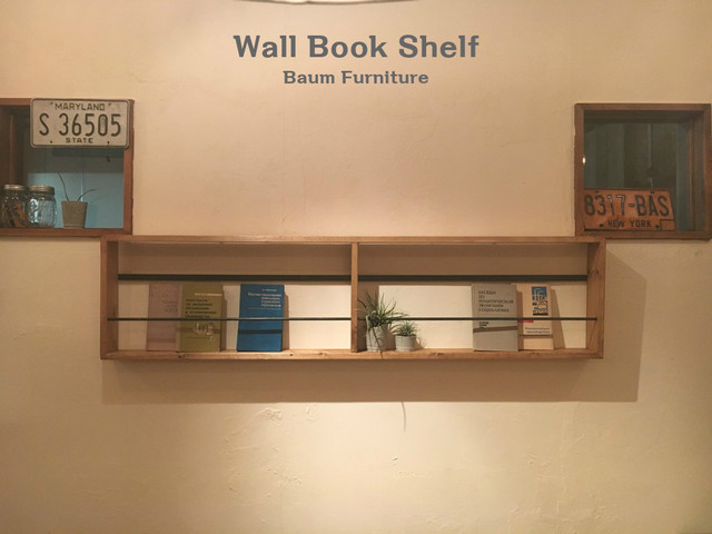 ブックシェルフ 本棚 アイアン 壁掛け [Wall Book Shelf]