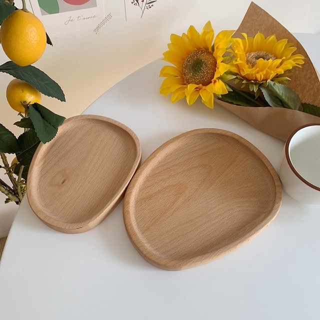 interior wood plate 2size set
