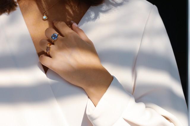 Blue quartz ring 青水晶リング
