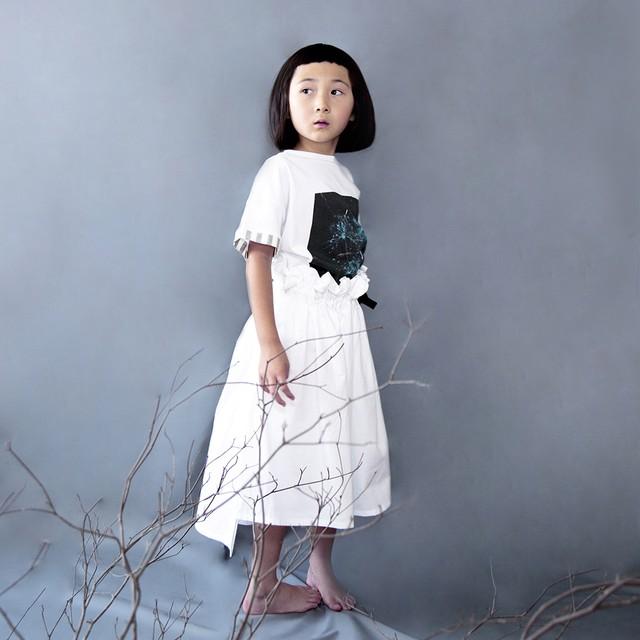 Asymmetry dress  S(90-100)サイズ  ブラック