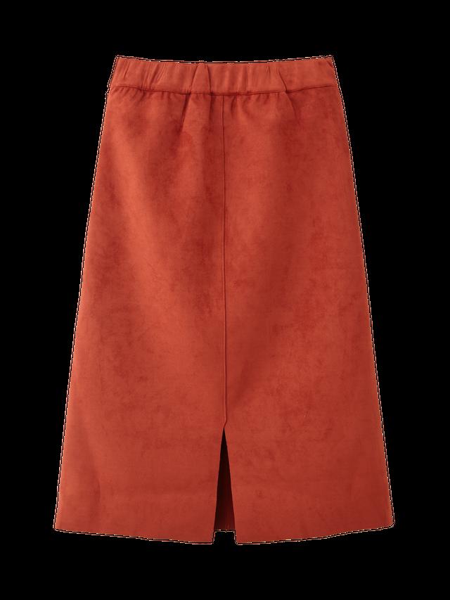スエード台形スカート
