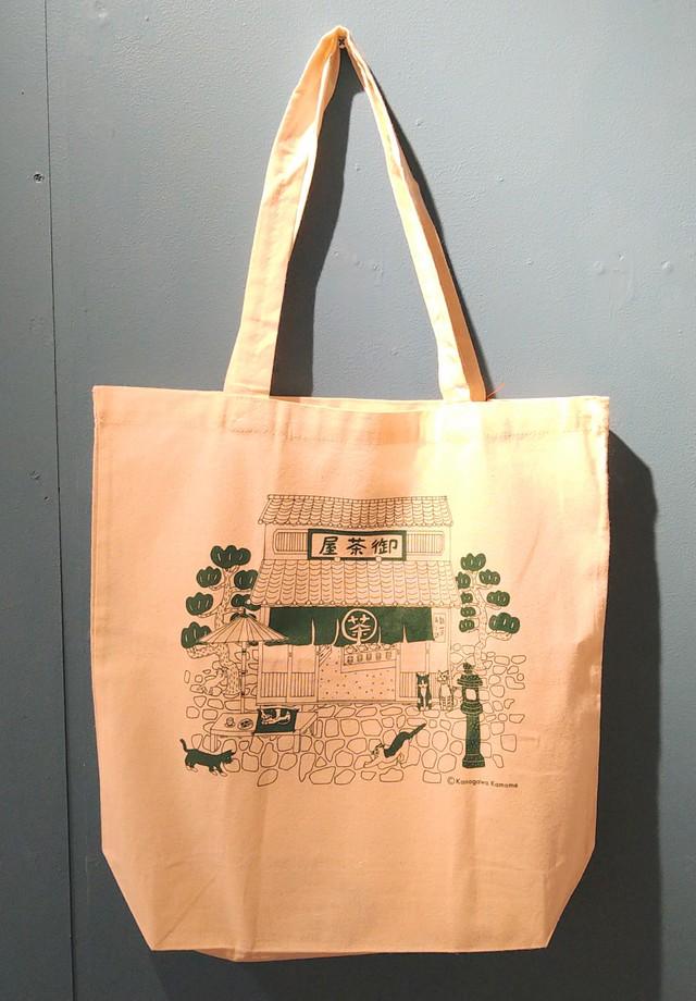 【Kamome】トートバッグ お茶屋猫