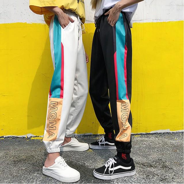 【ボトムス】ファッションハイウエストレギュラー丈切り替えカジュアルパンツ25971787
