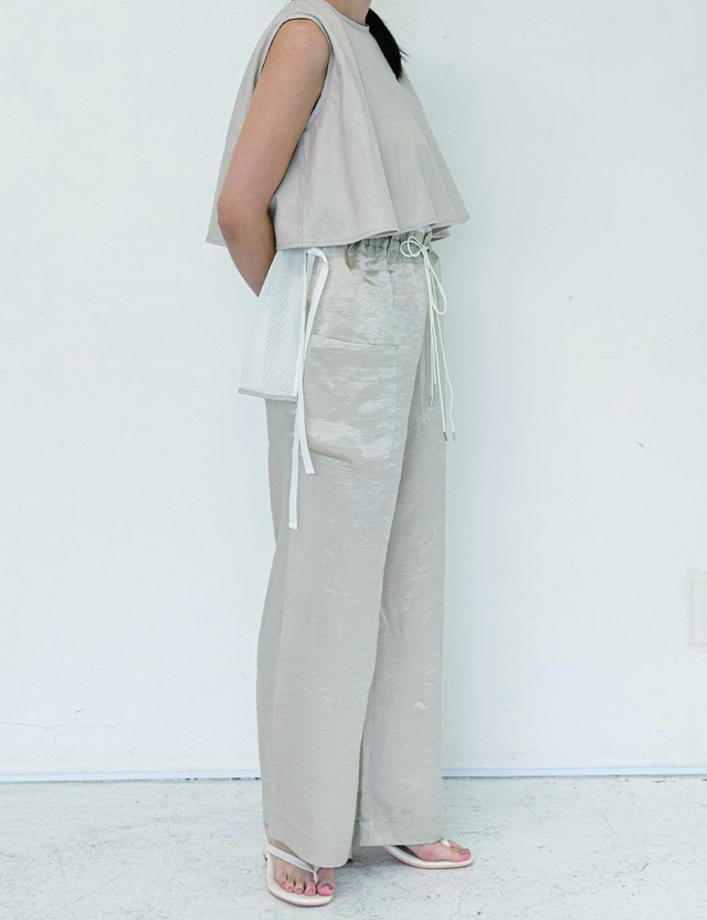 Straight pants / Beige