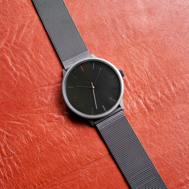 CHPO THE NUGE black dial. metal mesh wristband.
