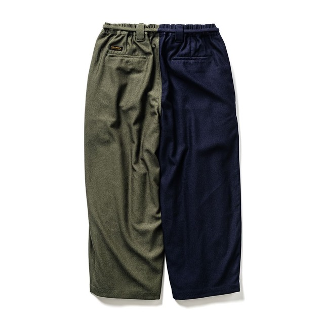 TIGHTBOOTH CYBORG PIQUE BAGGY SLACKS NAVY × OLIVE