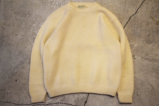 USED 80s L.L.Bean Wool sweater -Large S0714