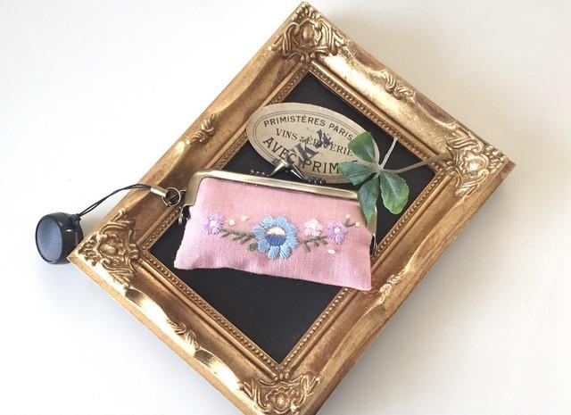 刺繍の手帳カバー(A6サイズ)ブラック