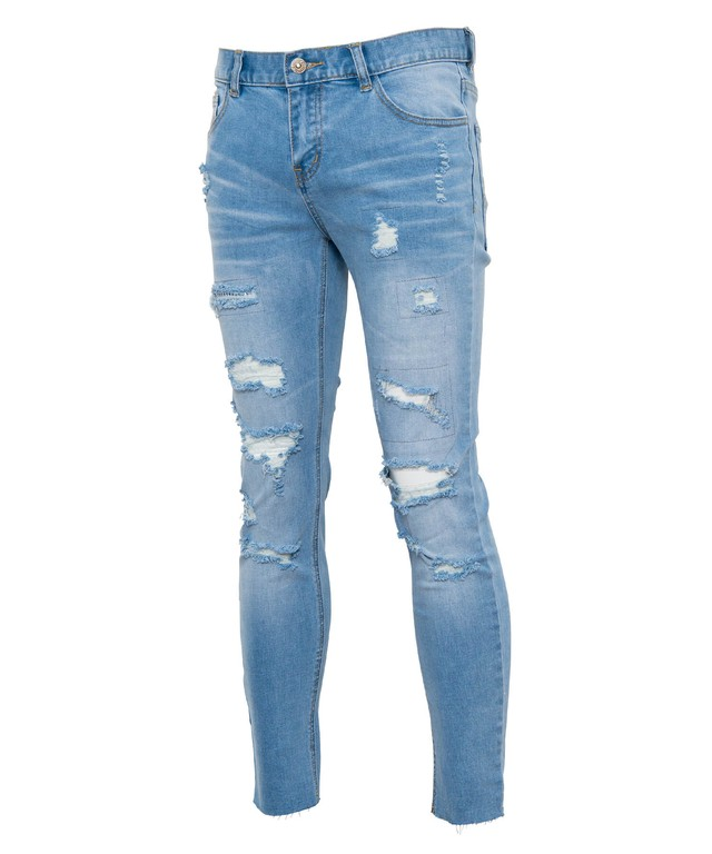 VINTAGE REMAKE CRUSH CUT SKINNY DENIM[REP094]