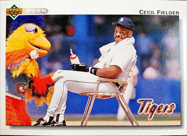MLBカード 92UPPERDECK Cecil Fielder #255 TIGERS