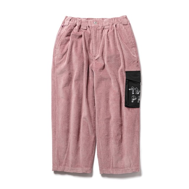 TIGHTBOOTH PAT CORD PANTS ROSE