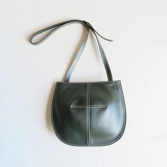 Balloon shoulder bag D.GREEN