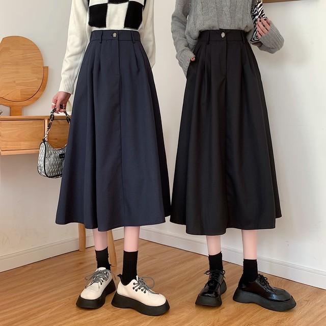 ロングスカート 台型スカート 4カラー SHD582806
