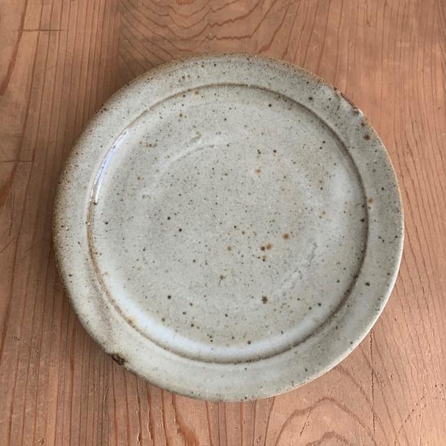 寺村光輔 林檎灰釉 5.5寸リム皿