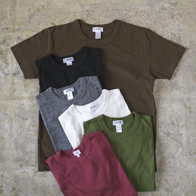 BETTER ベター raffy mid weight crew neck s/s T shirt ラフィー天竺クルーネックTシャツ