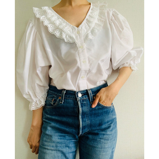 Vintage Victorian Frilly Blouse