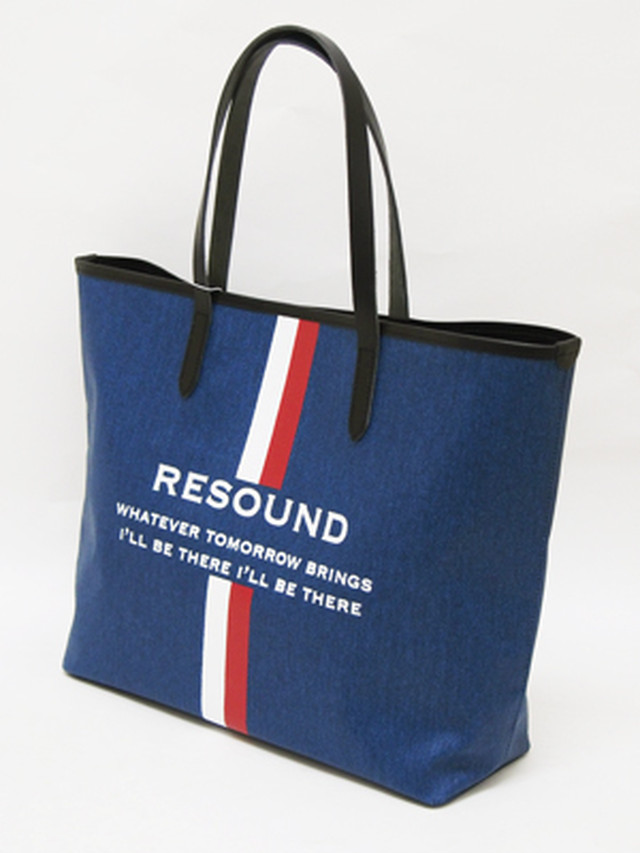 RESOUND CLOTHING (リサウンドクロージング) RESOUND DENIM TOTE / INDIGO×BLACK   RCQ-BAG-001-4