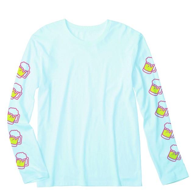 ビール ロングTシャツ(ライトブルー) - メイン画像