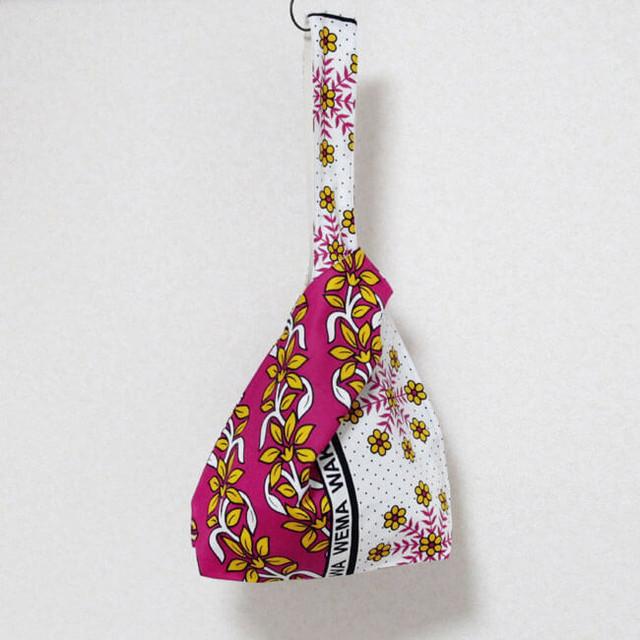 カンガのノットバッグ|アフリカ布バッグ