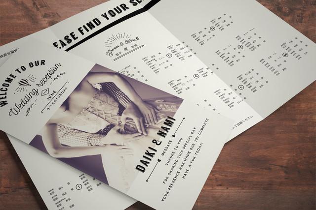 席次表 132円~/部 【写真ヴィンテージ】│結婚式 ウェディング