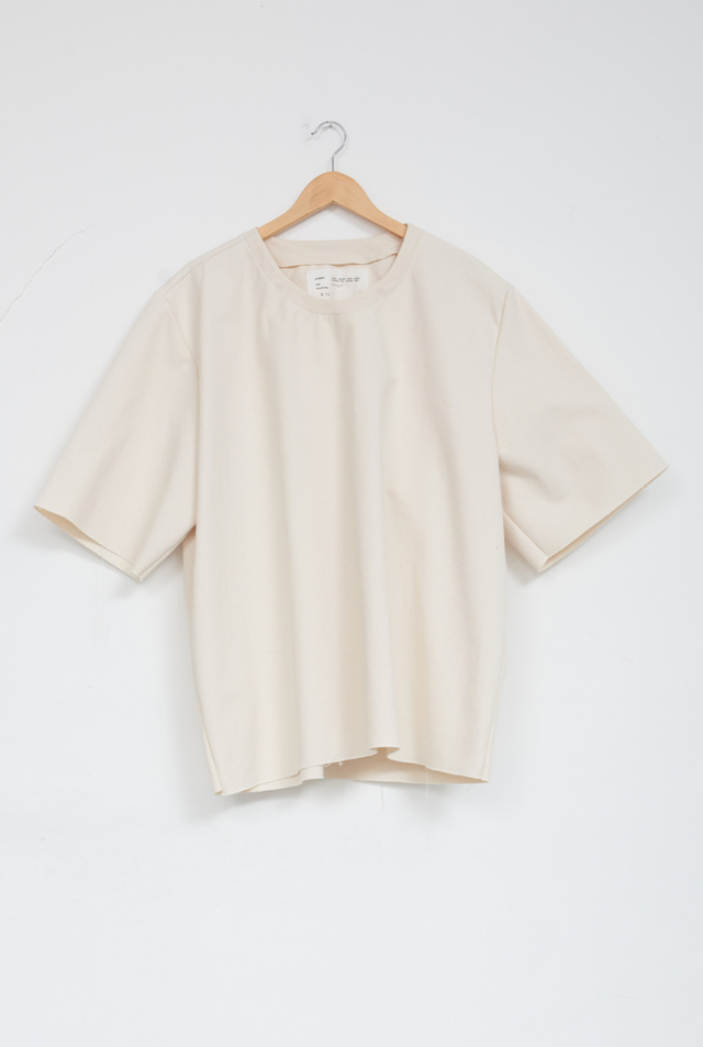 CAMIEL FORTGENS Tee short sleeve canvas Beige 11.01.10
