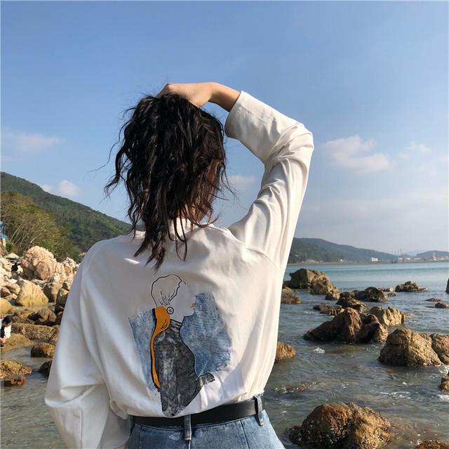 【レディース】バックプリントTシャツ