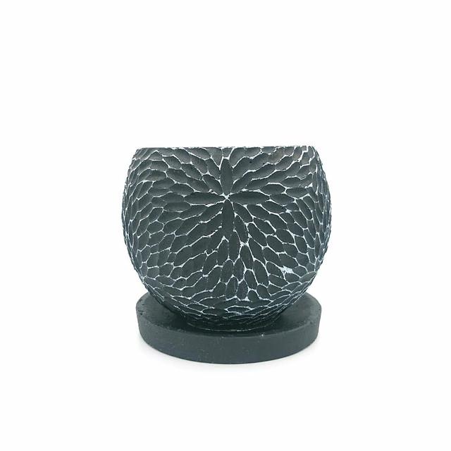 raraiuvant 陶器鉢 ブラック Mサイズ
