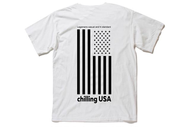 【Chilling USA T-shirt】/ white