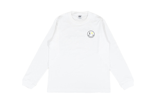 4/18発売【smile logo long sleeve】/ white
