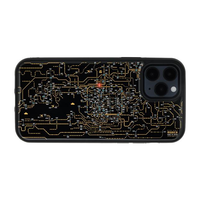 FLASH 関西回路線図 iPhone 12 / 12 Pro ケース  黒【東京回路線図A5クリアファイルをプレゼント】