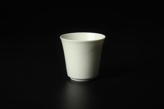 登り窯焼成 白磁筒盃 三川内焼