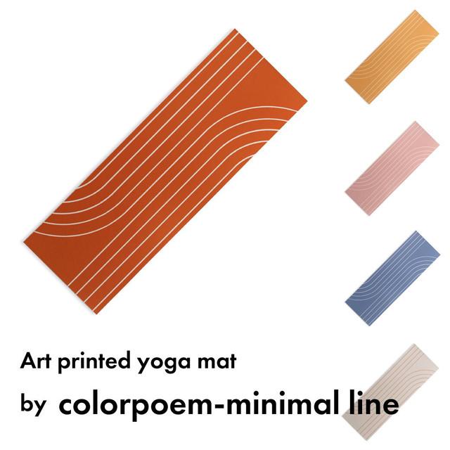 アートプリント ヨガマット -by Colorpoem-minimal line【受注オーダー制: 6月上旬入荷分 受付中】
