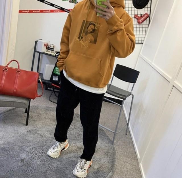 テイラーフーディー ★UNISEX  フーディー フードトレーナー 韓国ファッション