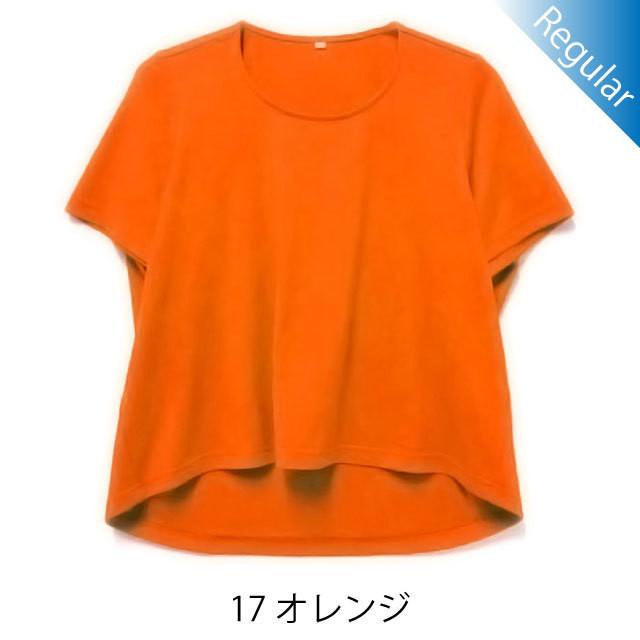 半袖丸首Tシャツ / 17オレンジ / 身長152cm→142cm / アイラブグランマ・スムースネック / 型番TC02-152