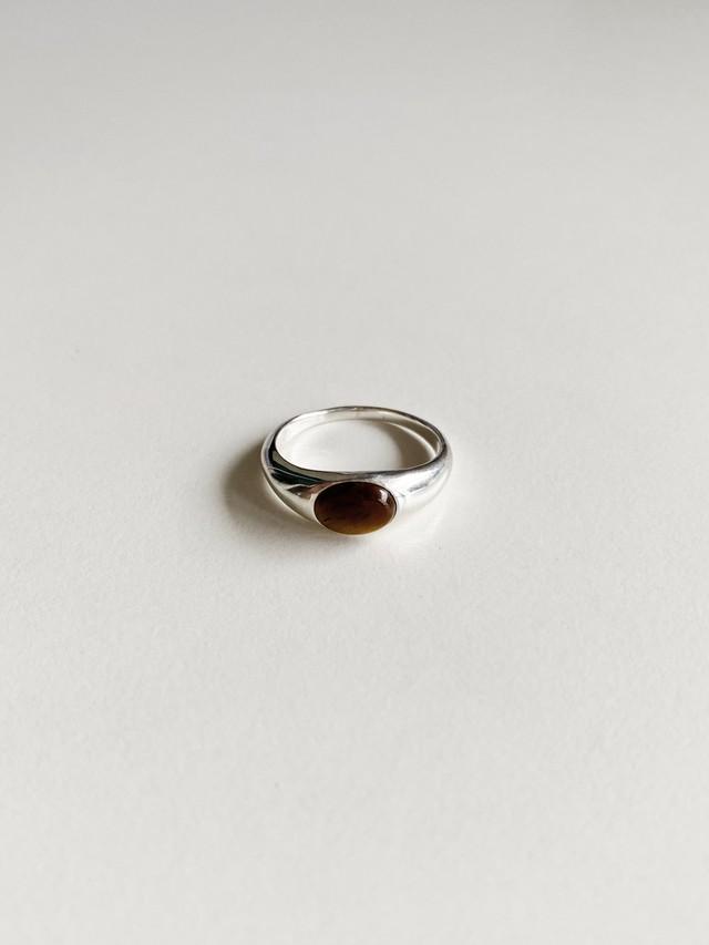 <販売開始 11/23 21:00 >gem round ring -tiger eye-