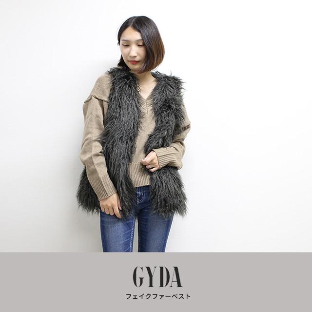 GYDA | フェイクファーベスト  071850006901