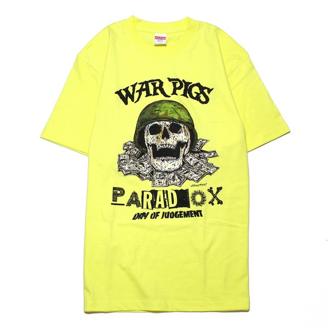 "PARADOX ""WAR PIGS"" S/S Tee [LIIGHT YELLOW]"