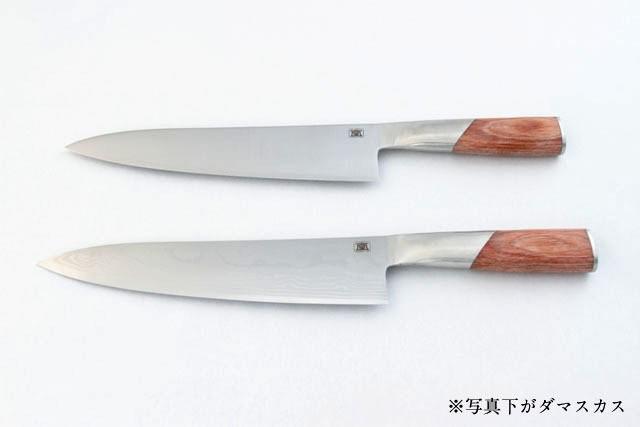 包丁 無垢 牛刀210mm ダマスカス