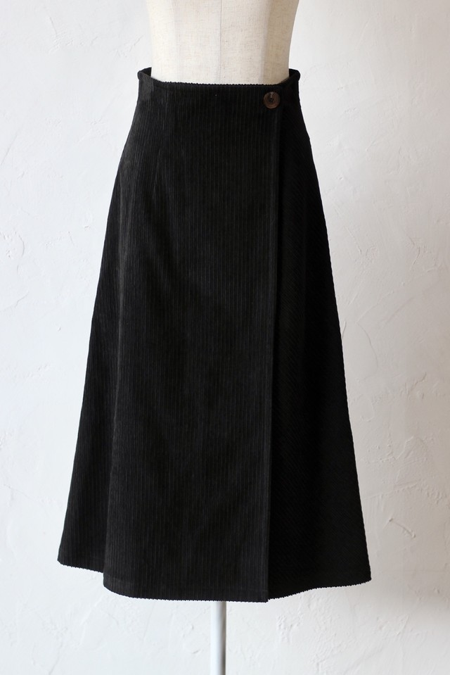 【SAYAKADAVIS】wrap skirt-black