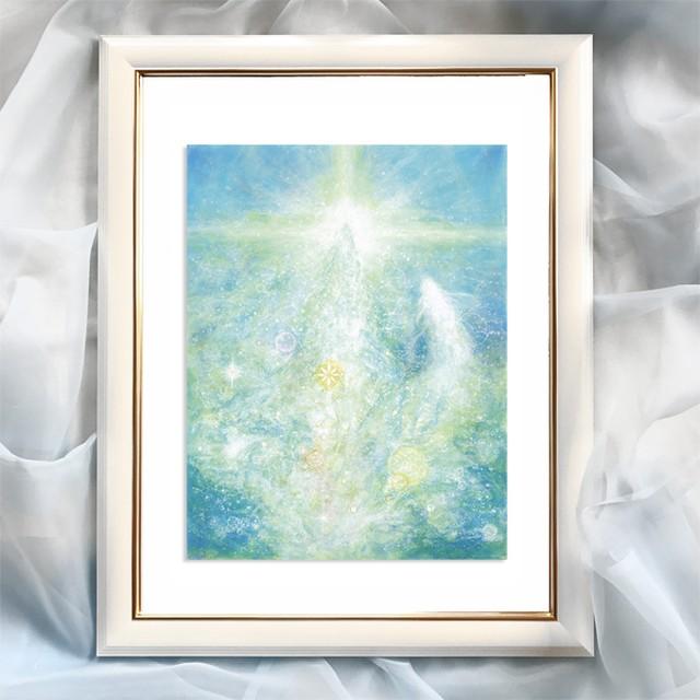 『光る水』【龍神】太子額入ヒーリングアート