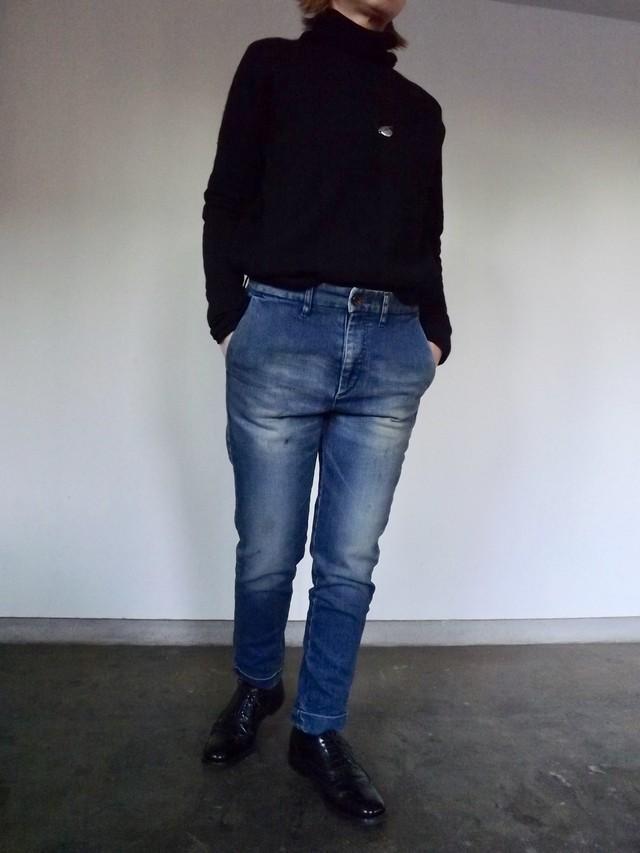 {ご予約11月末入荷} Women  {CL005-5500}  Denim trouser  usedwash  デニムトラウザー ストレッチ,ブルージーンズ,日本製, 岡山デニム