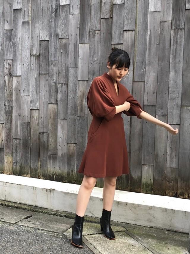 【20AW】mame kurogouchi マメクロゴウチ / Shimmering Striped Shirring Dress