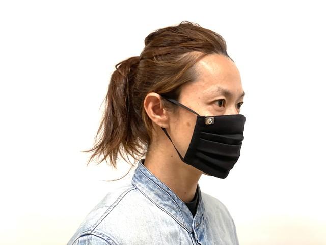 [抗インフルエンザウイルス加工] 秋冬に最適 ウイルス99%カット! *真鍮リベット付 ブラック3枚セット CUPRA DENIM MASK / キュプラデニムマスク BLACK