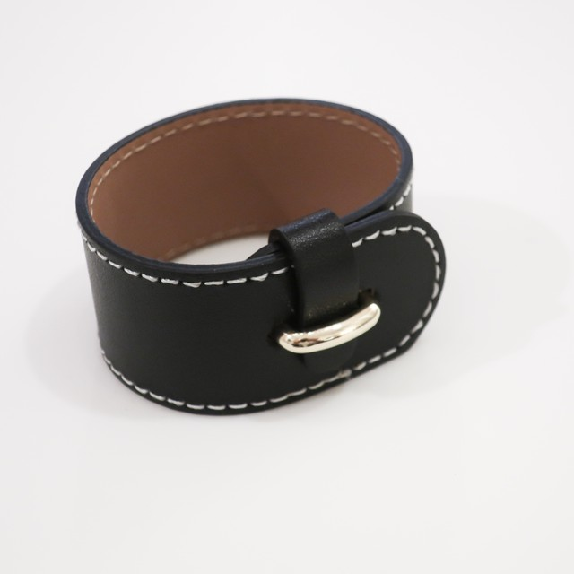 Stitch Leather - Bangle / Black